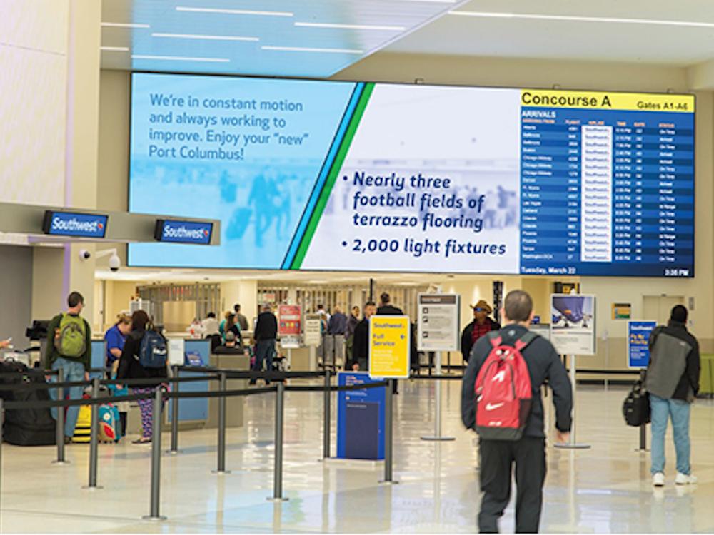 Mit großen LED Boards informiert CMH nun seine Passagiere (Foto: Delta Displays)