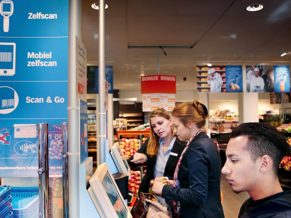 Self Service Filiale von Retailer Albert Heijn mit einer NCR Lösung (Foto: Albert Heijn)
