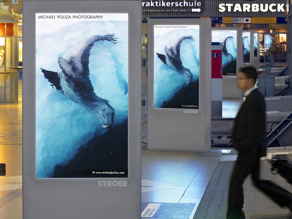 Station Video Screens von Ströer in München (Foto: Ströer)