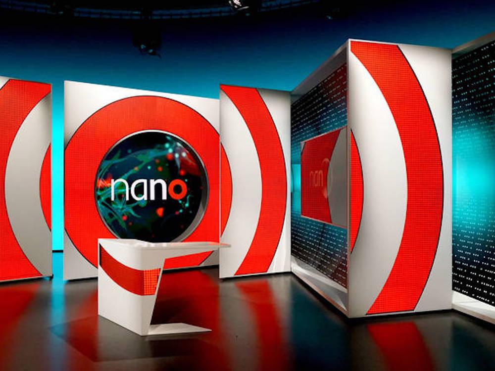 "Studio Design der Sendung ""nano"" (Foto: Boris Banozic)"