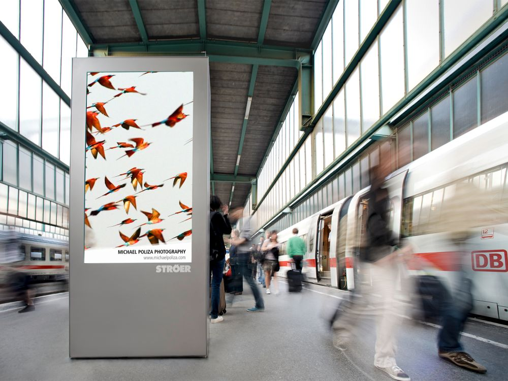 Am Hbf Stuttgart –Station Video Screen von Ströer (Foto: infoscreen)