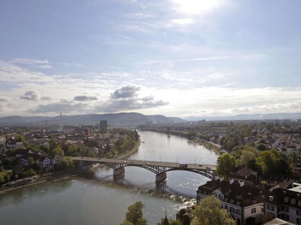 Blick auf Basel Ost und den Rhein (Foto: Staatskanzlei Basel-Stadt / Juri Weiss)