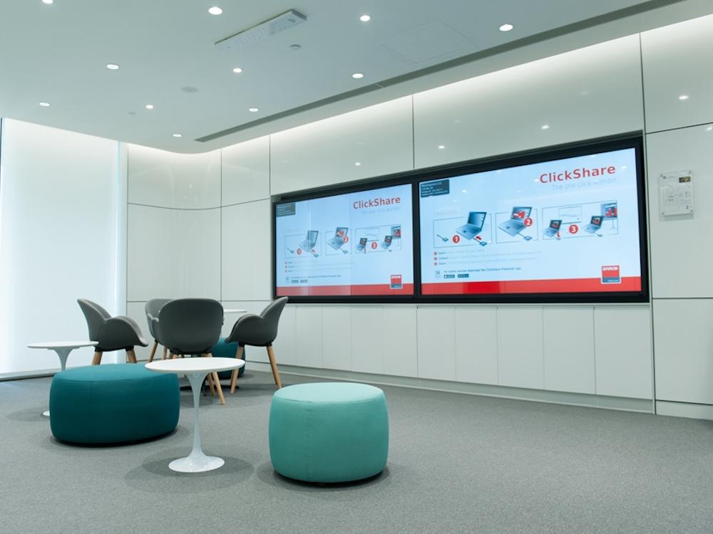 ClickShare ist bei zahlreichen Kunden im Einsatz – wie hier bei GE in China (Foto: Barco)