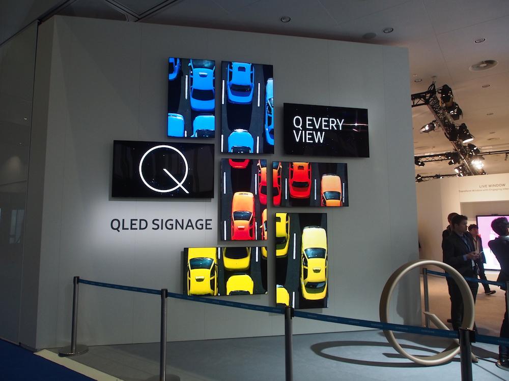 Mit QLED bringt Samsung eine Consumer Technologie in den Profimarkt (Foto: invidis)
