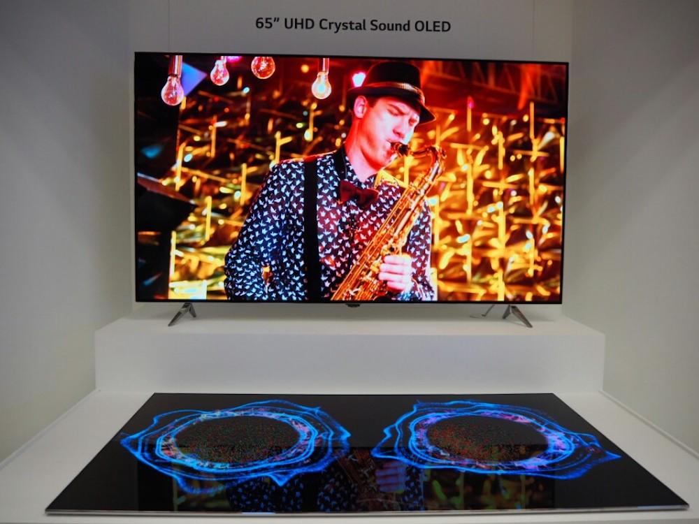 OLED Screens von LG Display auf der CES 2017 (Foto: LG Display)