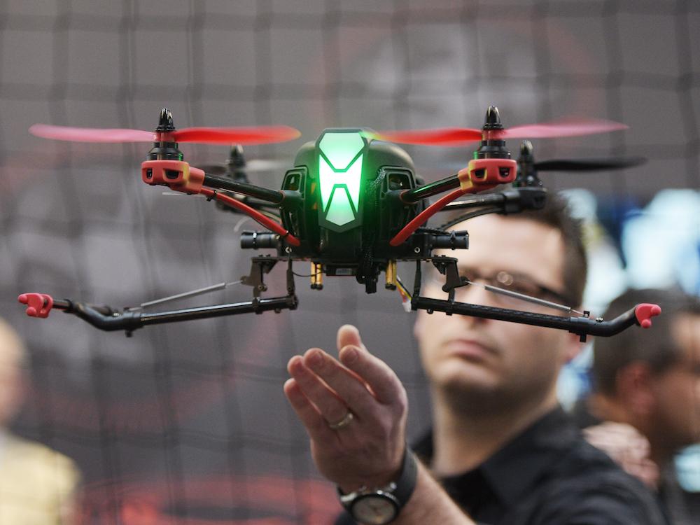 Auch auf der letzten CeBIT waren Drohnen in B2B Anwendungen ein Schwerpunkt (Foto: CeBIT / Deutsche Messe AG)