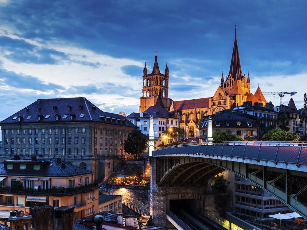 Blick auf die Kathedrale von Lausanne (Foto: APG|SGA)
