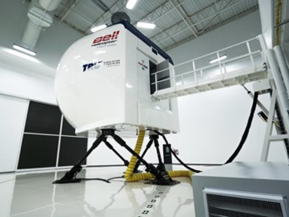 Der neue Bell Simulator nutzt elf DLP Projektoren (Foto: Bell Helicopter)