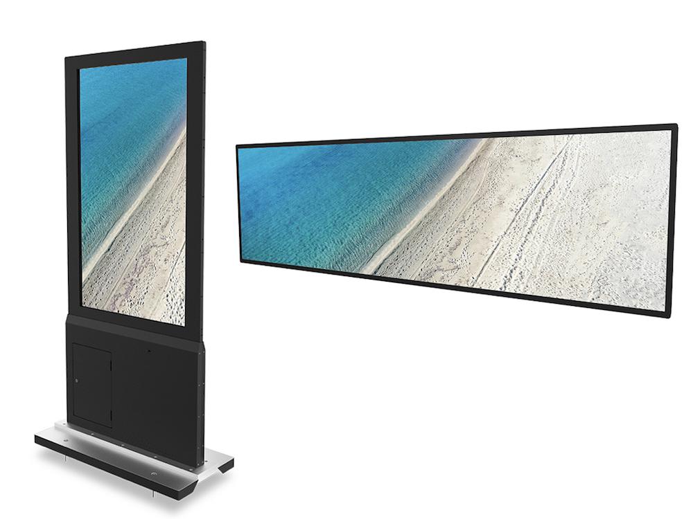 Die doppelseitige Stele DD550Abi und das Streiched Display DS370bmid sind ab sofort verfügbar (Foto: Acer)