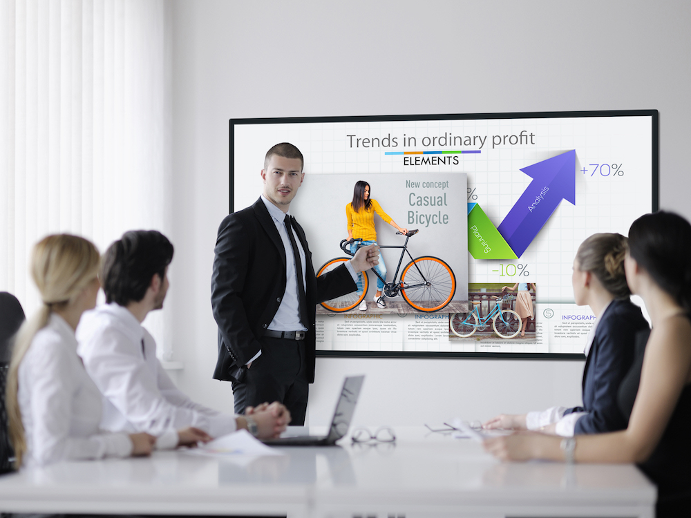 Digital Signage Screen TH-65EF1 von Panasonic (Foto: Panasonic)