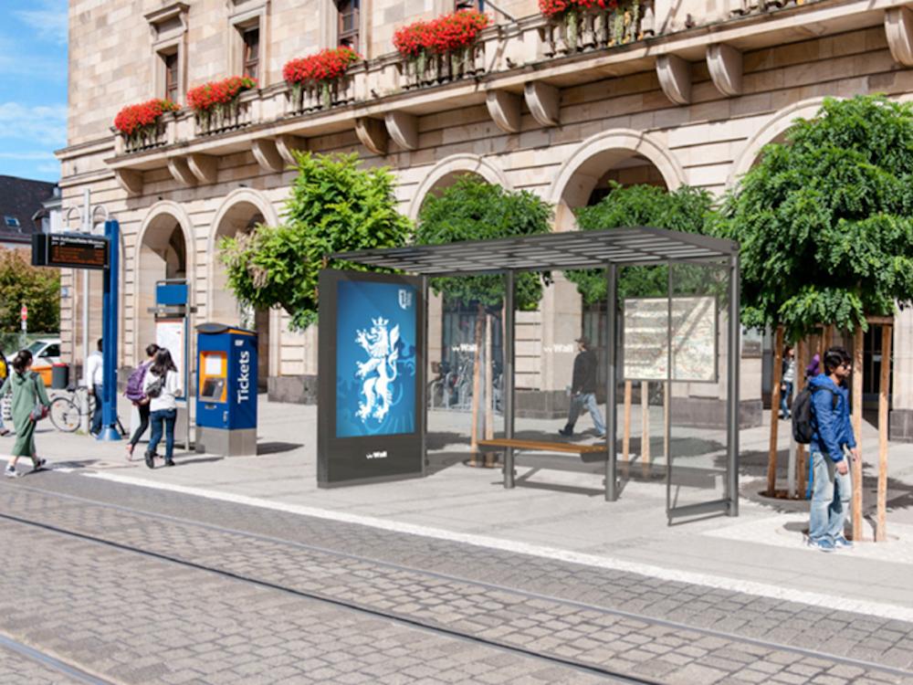 Wird in Mannheim installiert - Fahrgastunterstand des Typs Avenue (Foto: Wall)