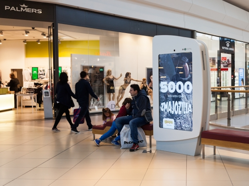In der Arena Shopping Mall installierte Go2ditigal neue DooH Screens (Foto: Infinitus)