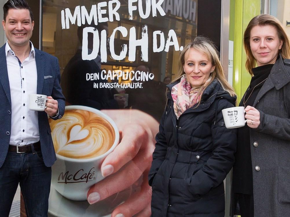 Mit Scent kombiniert – CLP-Kampagne für McCafé (Foto: Epamedia)