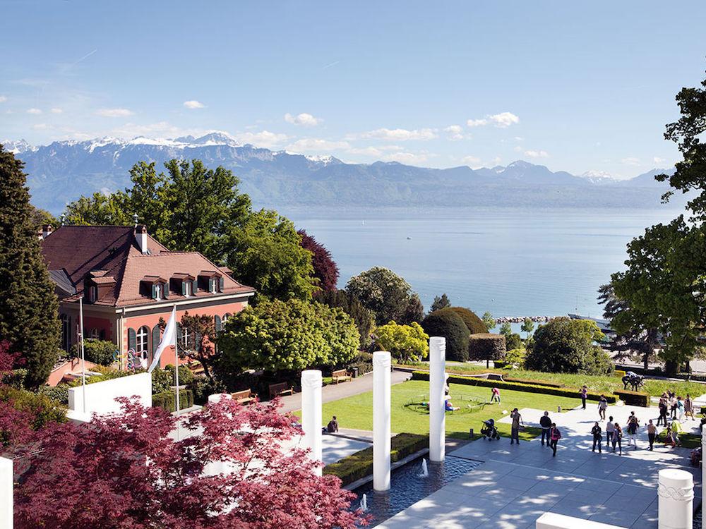 Park des Olympischen Museums in Lausanne: Das Museum ist eine der Stationen der Roadshow (Foto: Olympisches Museum Lausanne)