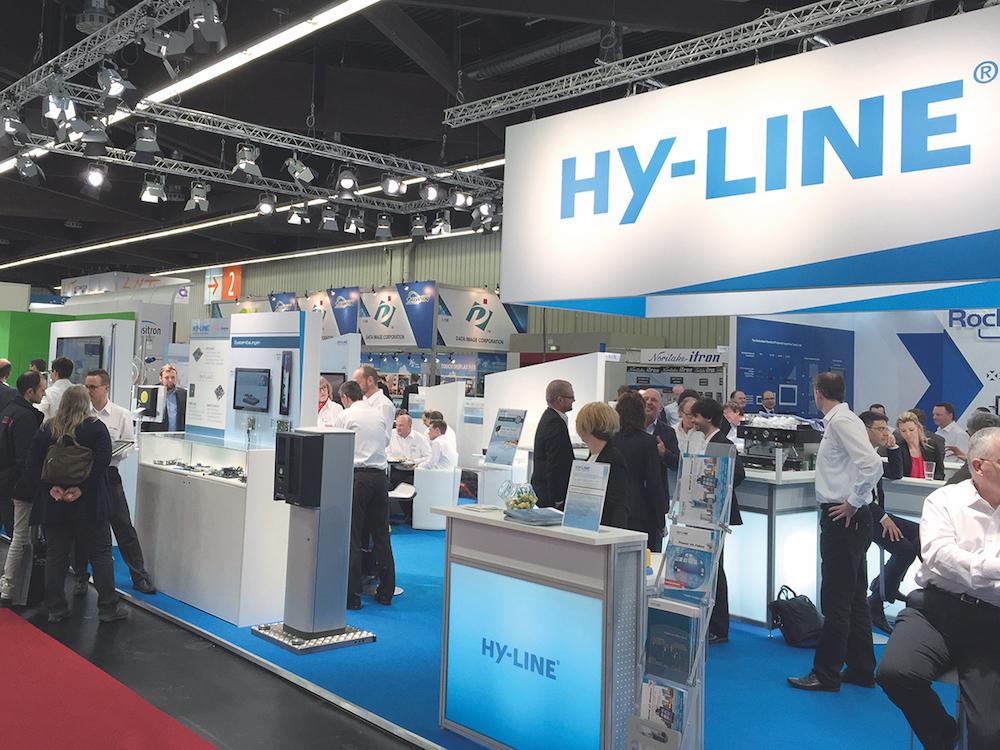 Stand von Hy-Line auf der letzten Embedded World (Foto: HY-LINE)