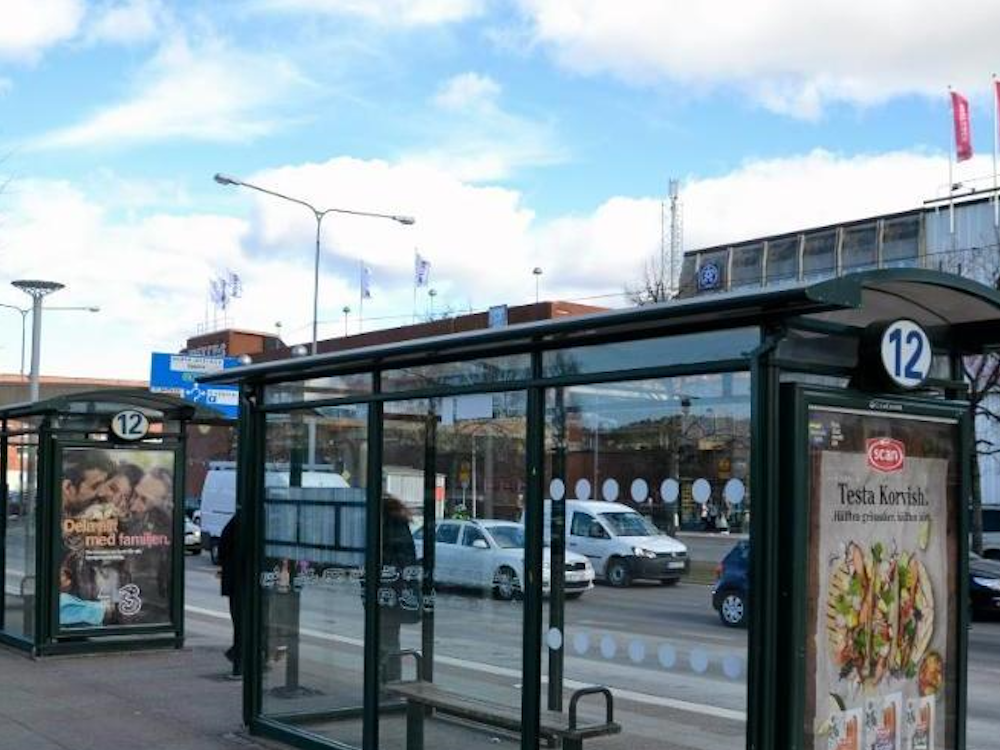 Busshaltestellen von Västtrafik in Westschweden (Foto: JCDecaux)