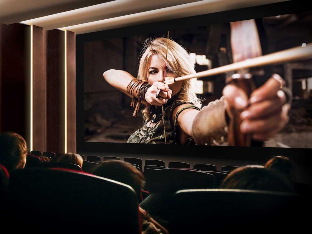 Der Samsung Cinema Screen bei einer Vorführung vor Publikum (Foto: Samsung)