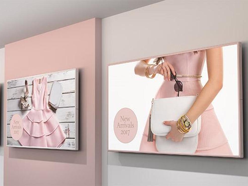 Die Screens der beiden Serien P und V sind anpassbar – so auch in RAL Rahmenfarben (Foto: NEC Display Solutions)