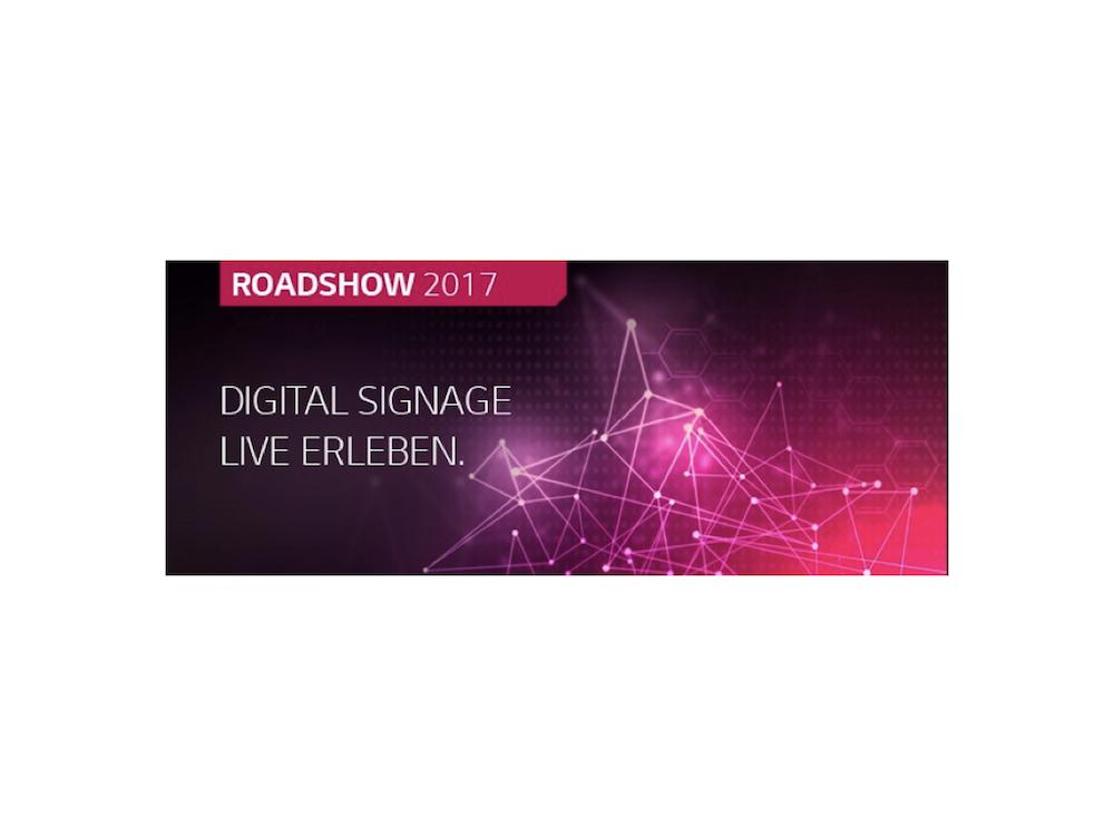 Die drei Partner starten jetzt ihre große Digital Signage Roadshow 2017 (Grafik: COMM-TEC)
