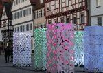 Fachwerkhäuser und Stelen bildeten einen interessanten Kontrast (Foto: Gahrens + Battermann)
