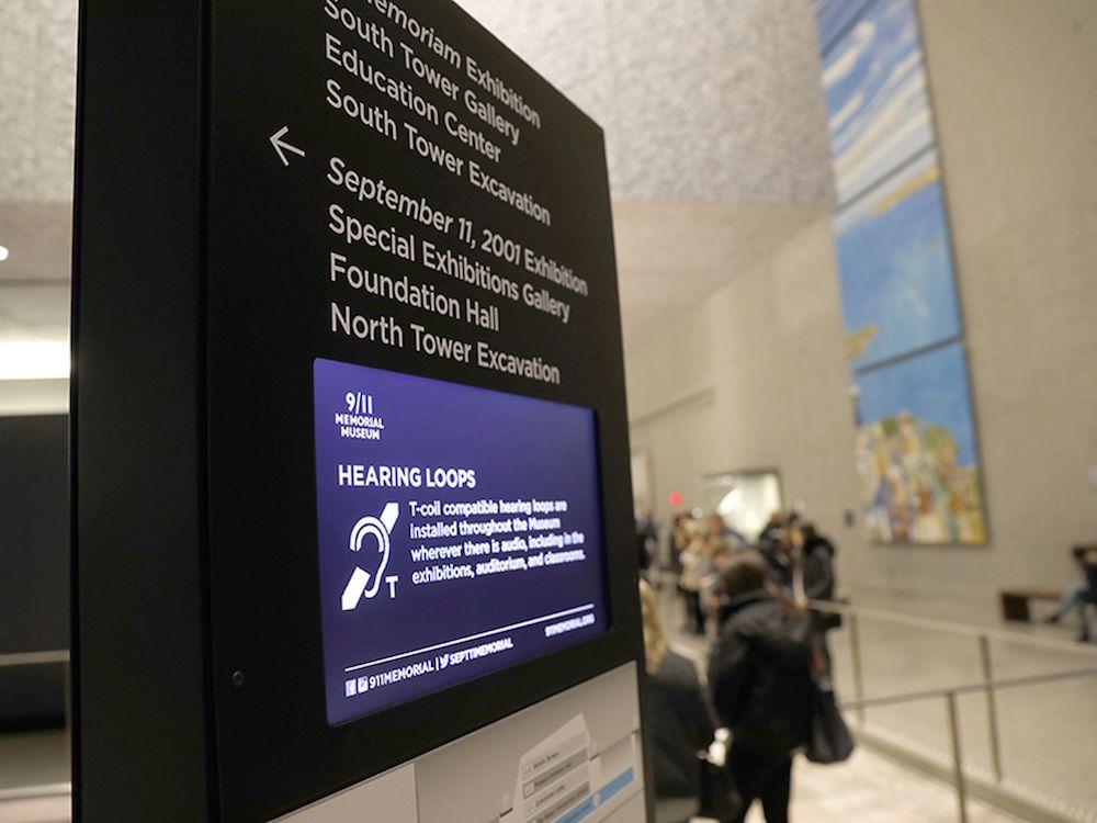 Insgesamt fast 100 Screens sind im 9/11 Memorial Museum im Einsatz (Foto: BrightSign)