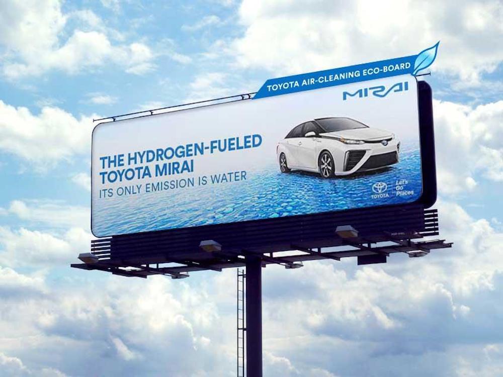 Mit den Billboards von Toyota wird die Umgebungsluft gereinigt (Foto: Saatchi & Saatchi)