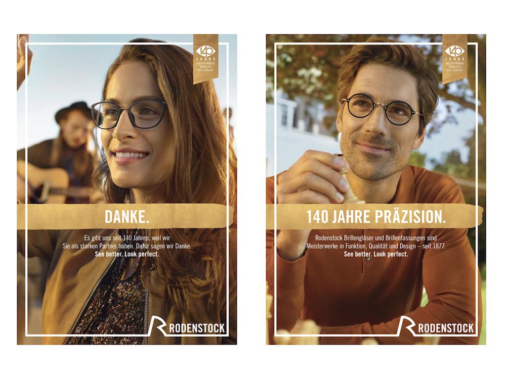Motive der aktuellen Kampagne von Rodenstock (Fotos: Serviceplan)