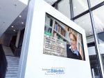 Stadtfenster Duisburg – Digital Signage im Foyer (Foto: netvico)