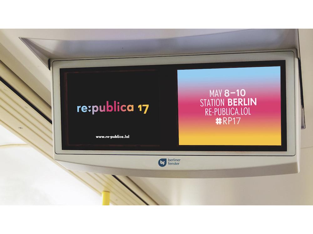 re.publica 2017 – Digitale Fragestellungen werden auch im Münchner Fenster redaktionell aufbereitet (Foto: mcR&D GmbH)