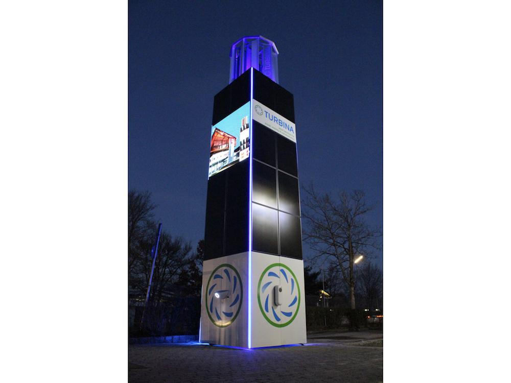 Der Smart Tower von Turbina im Einsatz (Foto: Turbina Energy AG)