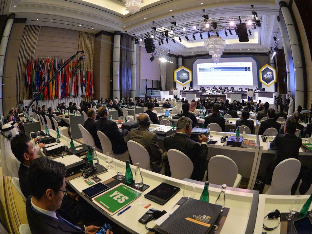Die Abstimmung bei der AFC Conference erfolgte erstmals digital (Foto: Gahrens + Battermann)