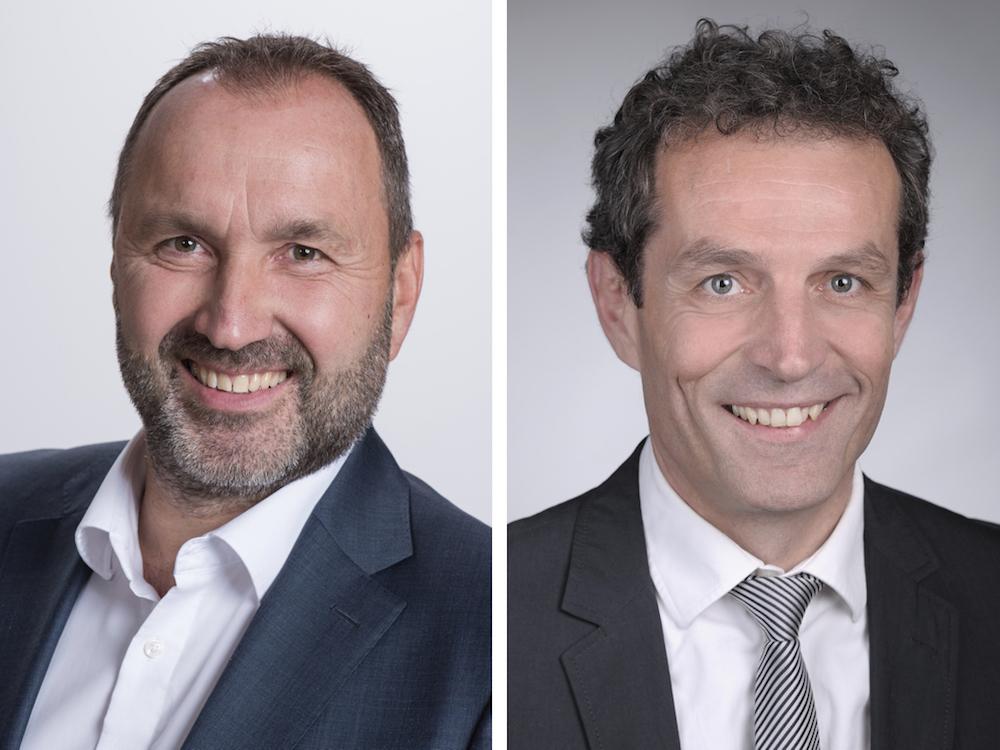 Florian Bernauer (links) übernimmt die Führung – Michael Buser wird den Verwaltungsrat leiten (Fotos: Fenaco)
