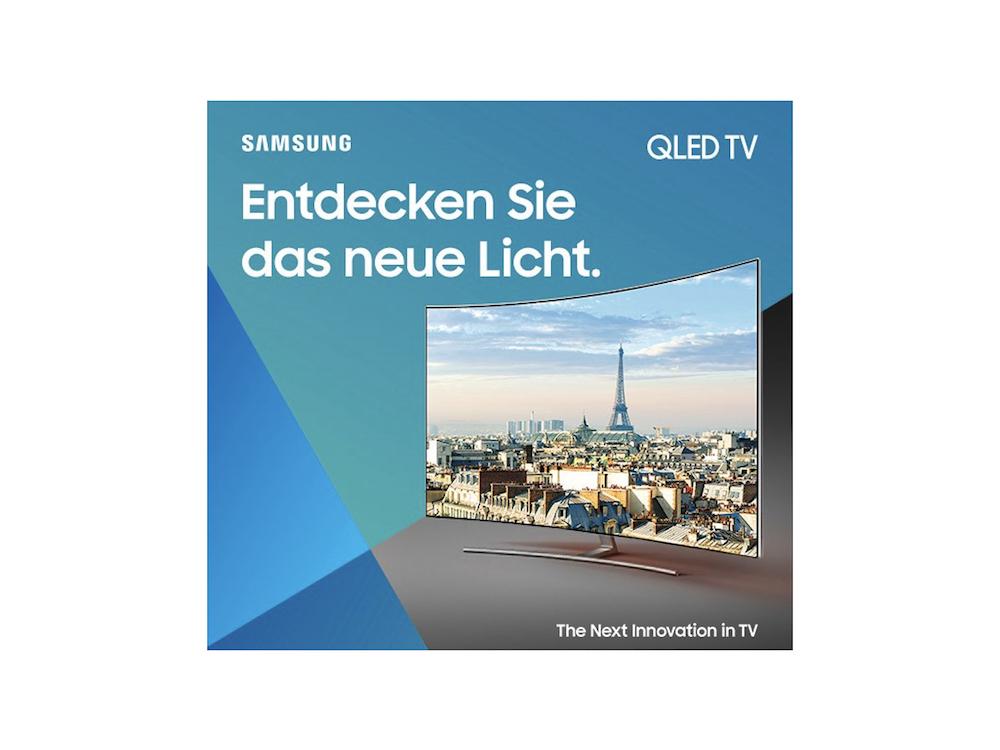 Motiv aus der neuen QLED Kampagne (Foto / Grafik: Samsung)