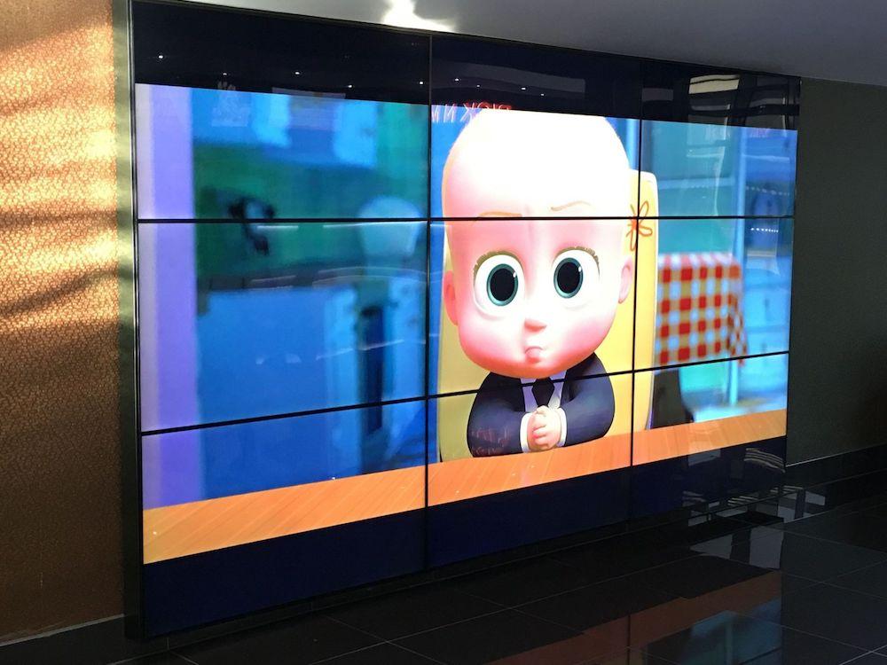 Video Wall in 3 x 3 Matrix im Vue Kino in Darlington (Foto: BrightSign)