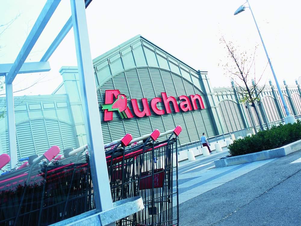 Blick auf einen Supermarkt von Auchan in Frankreich – Symbolbild (Foto: Auchan Group)