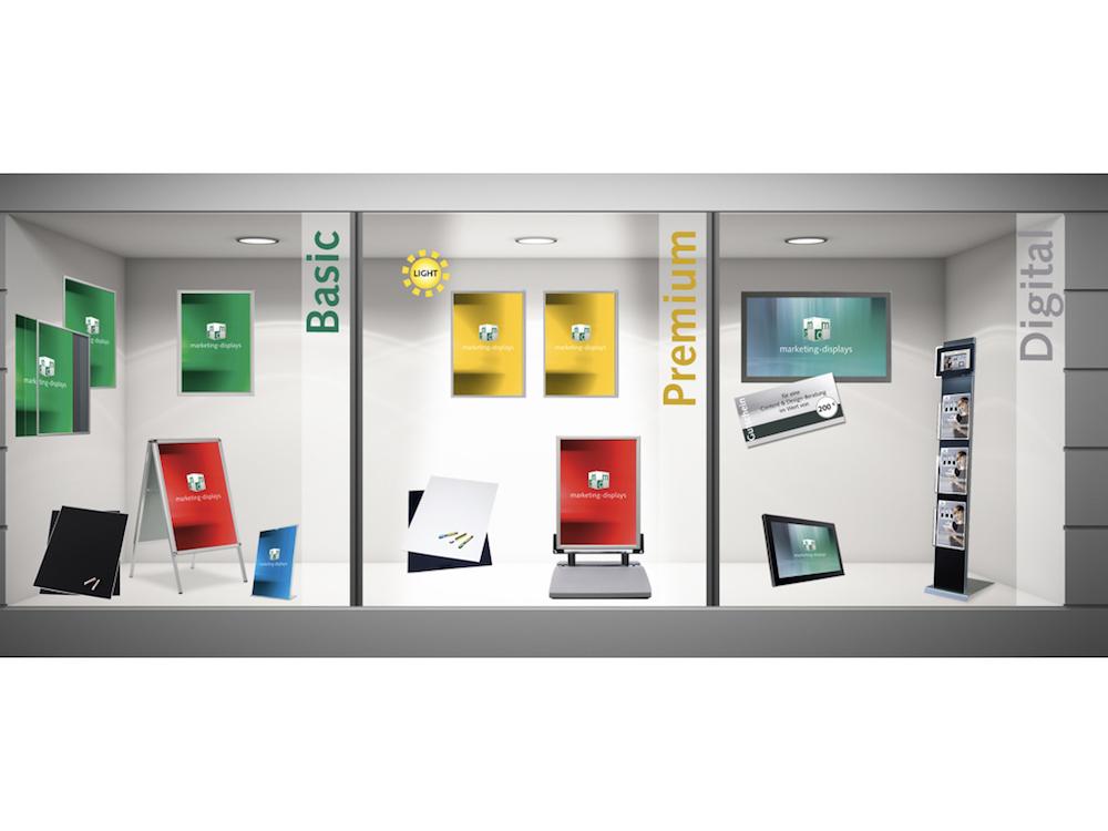 Das Starterkit Digital ermöglicht den Einstieg in Digital Signage (Foto: Marketing-Displays)