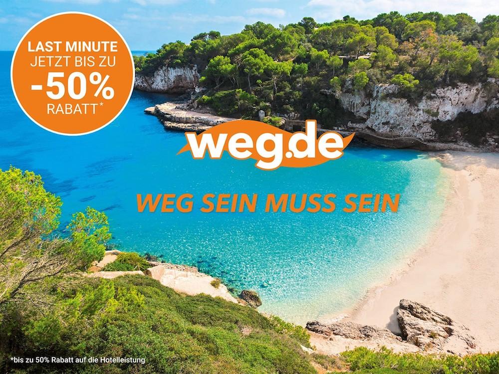 Die Last Minute Kampagne setzt ab Mitte Juni auch auf Aussenwerbung (Foto: Weg.de)