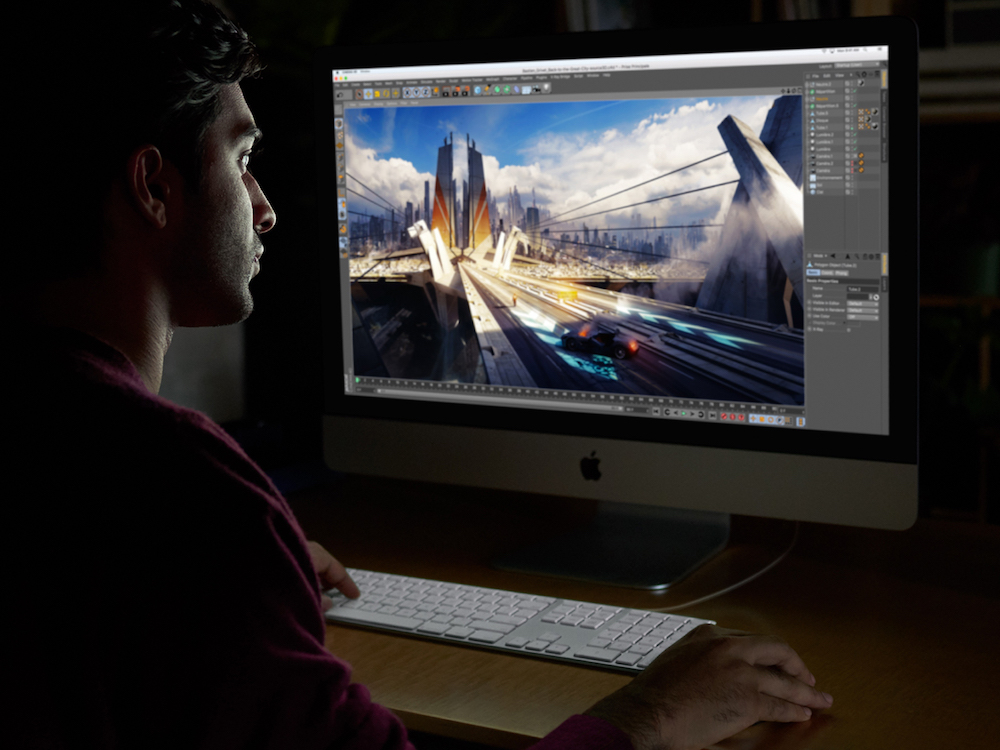 Editing am kommenden iMac Pro (Foto: Apple)