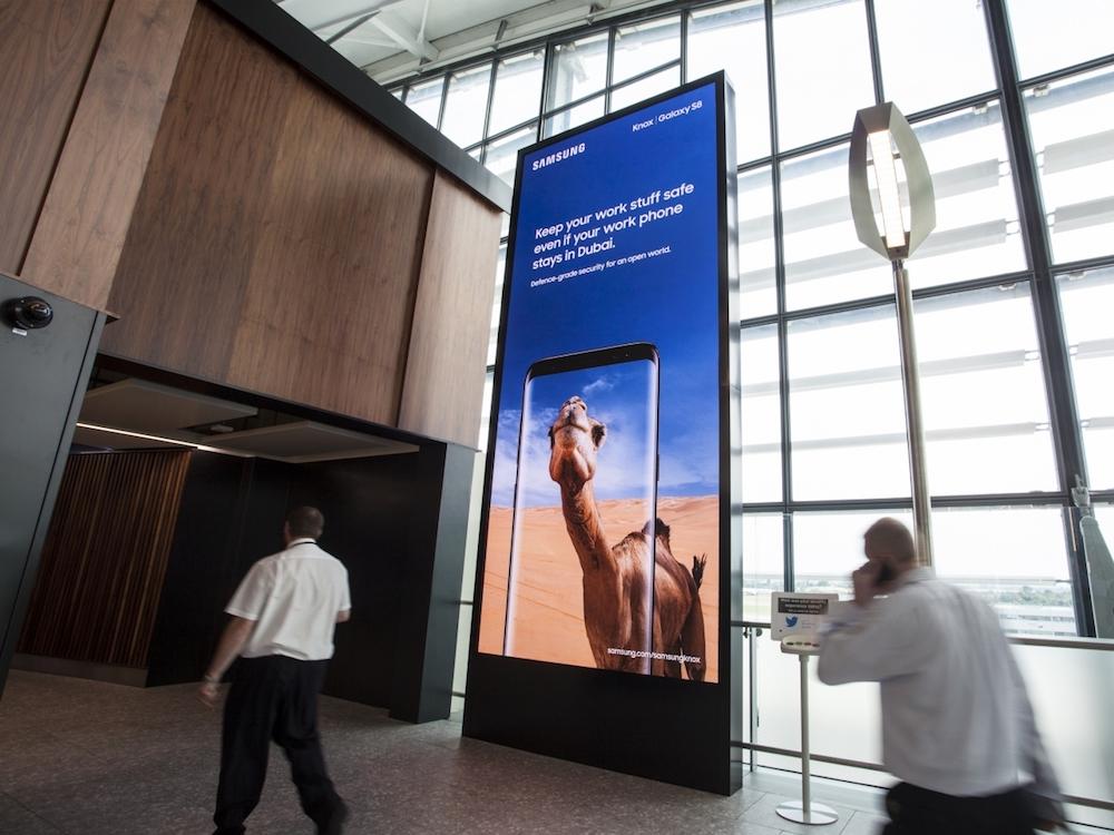 Als erster Werbungtreibender nutzt Samsung das neue Werbemittel (Foto: JCDecaux)