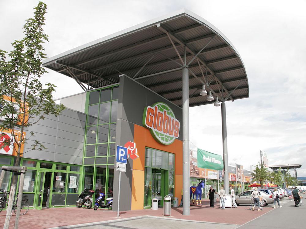 Aussenansicht eines Globus Marktes (Foto: Globus SB-Warenhaus)