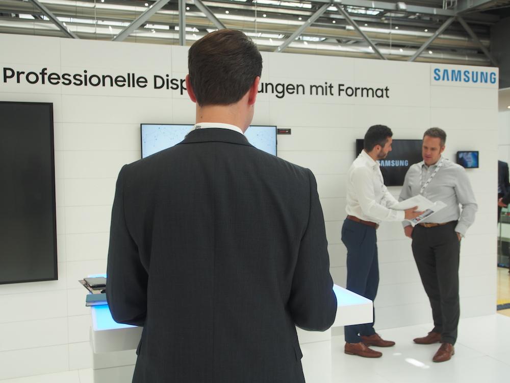 Der Stand von Samsung auf dem DSS Europe 2017 (Foto: invidis)