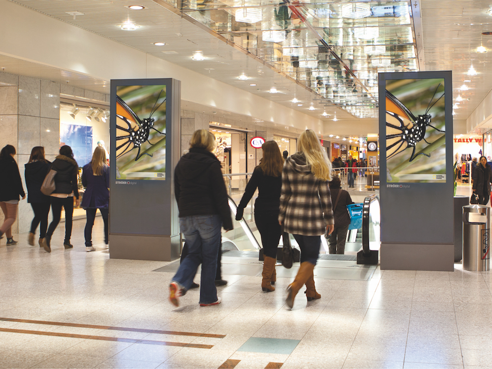 Digital out of Home – Mall Video Screens von Ströer, Symbolbild (Foto: Ströer)