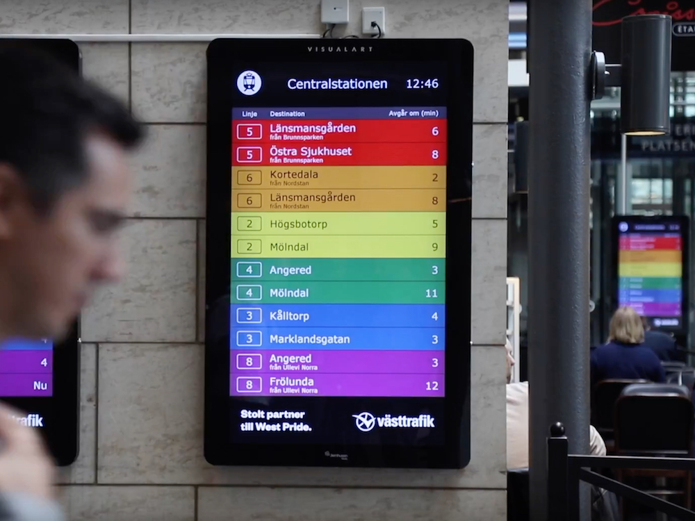Für die Proud Timetables nutzte der Nahverkehrsbetreiber seine eigenen Daten einmal ganz anders (Screenshot: invidis)