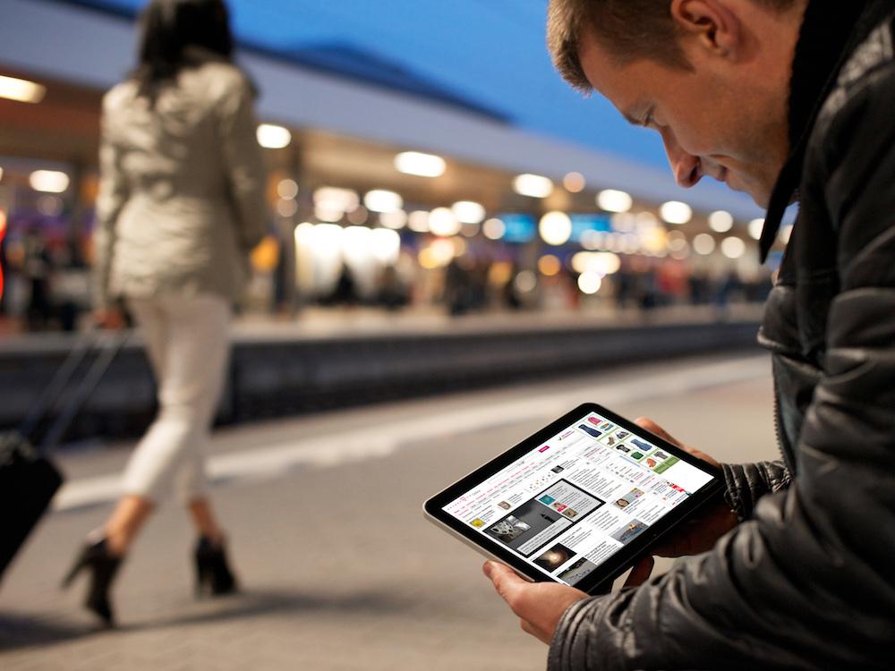Mobile Devices liefern der MaFo und den Werbungtreibenden zahlreiche zusätzliche Infos (Foto: Deutsche Telekom AG)