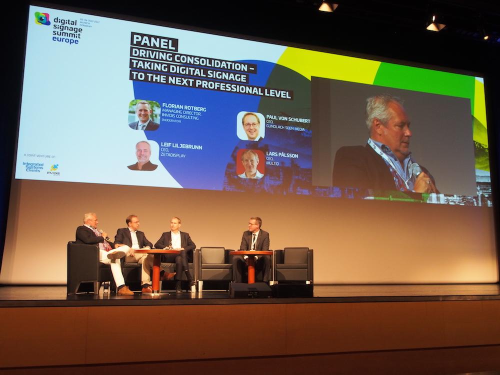Leif Liljebrunn, Paul von Schubert, Lars Pålsson und Florian Rotberg sprachen über die Konsolidierung in der Branche (Foto: invidis)