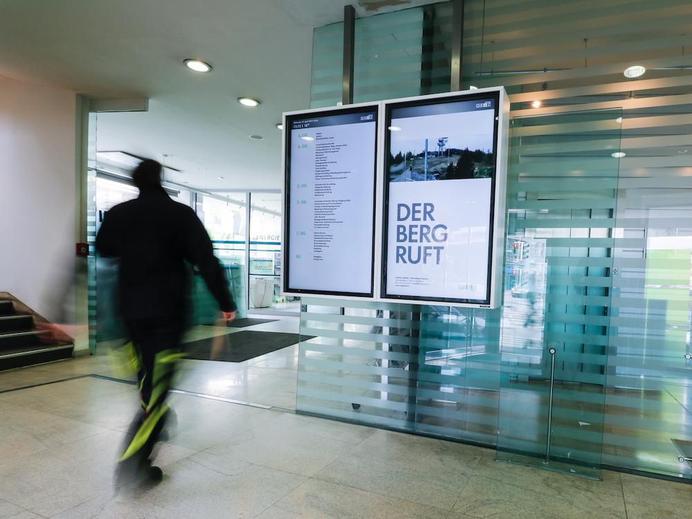 Schnelle Orientierung im Gebäude durch Digitale Wegeleitung (Foto: DiCube)
