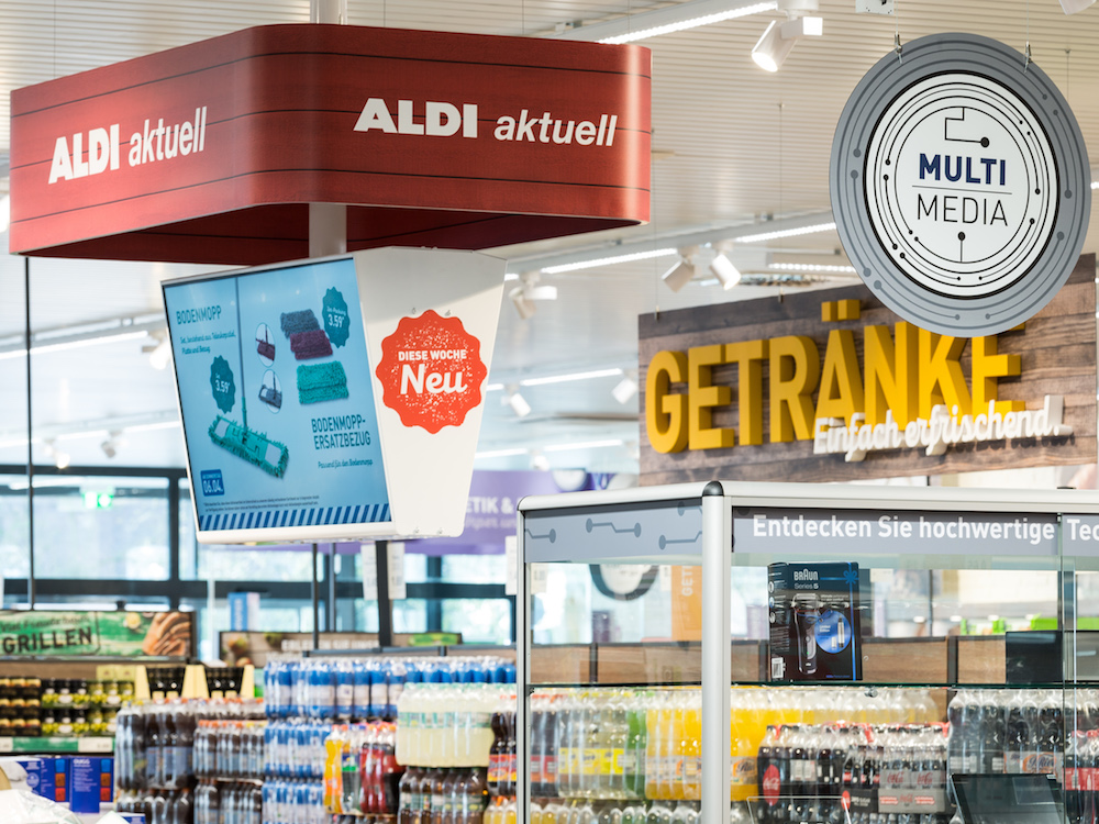 exklusiv aldi nord rollt digital signage in allen filialen aus invidis. Black Bedroom Furniture Sets. Home Design Ideas