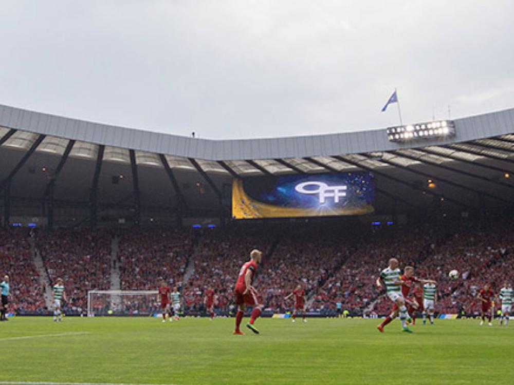 Zwei neue LED Screens sorgen im Stadion für die richtigen Bilder (Foto: Daktronics)