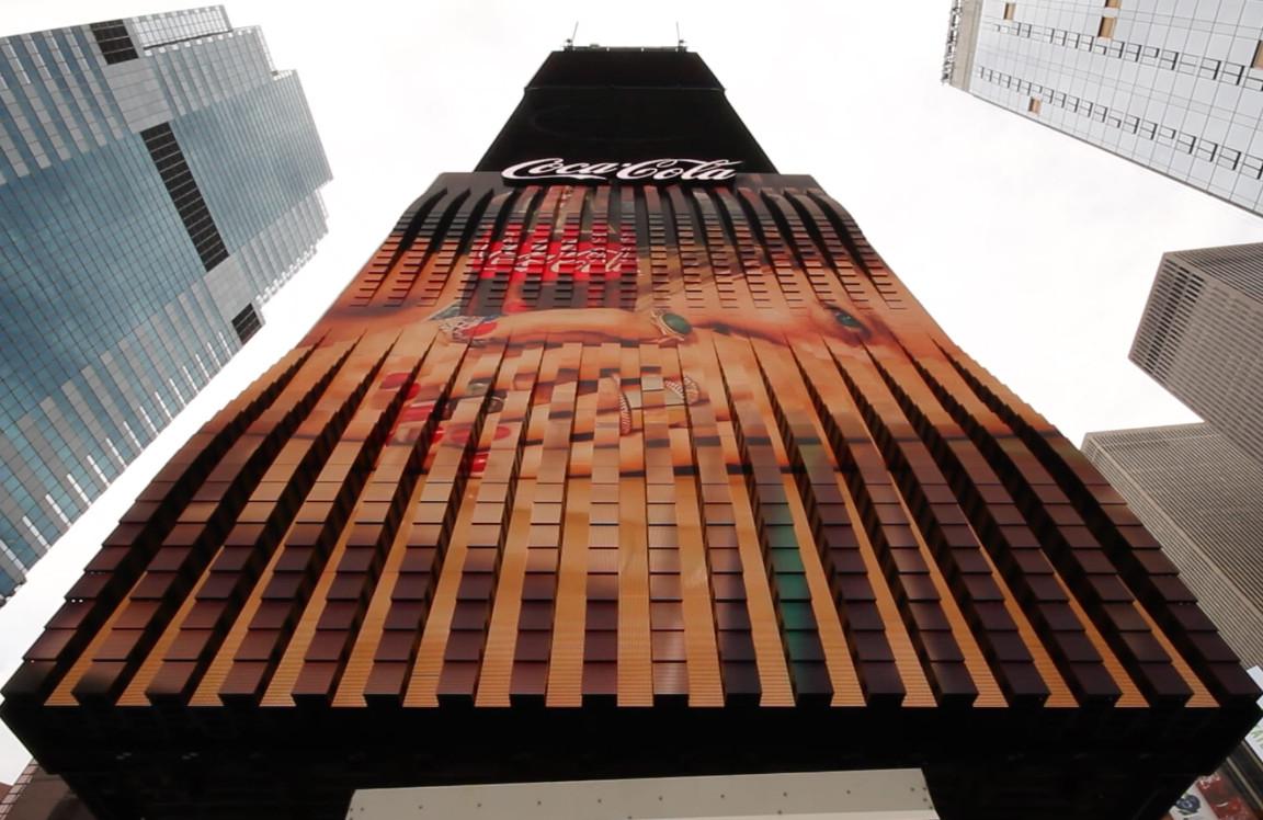 Coca-Cola 3D Robotic LED (Foto: Screenshot)