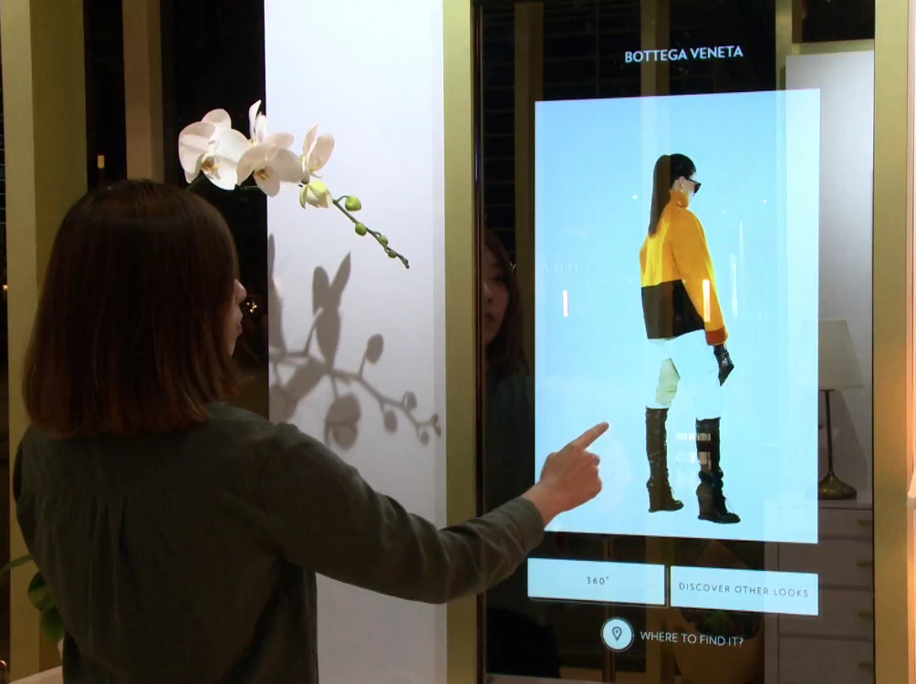 Digital Signage Virtual Closet (Foto: Screenshot)